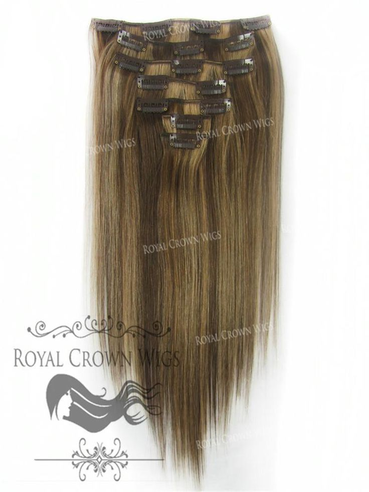 Brazilian 7 Piece Straight Human Hair Weft Clip-In…