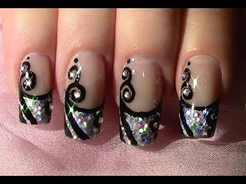die besten 25 strass nageldesign ideen auf pinterest nagelkunst acryl nagelkunst und. Black Bedroom Furniture Sets. Home Design Ideas