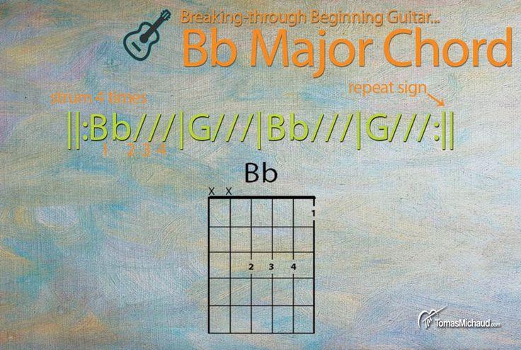 Breaking-through Beginning Guitar Series: Play The B Flat Major Chord On Guitar  http://www.tomasmichaud.com/bb-chord-guitar/