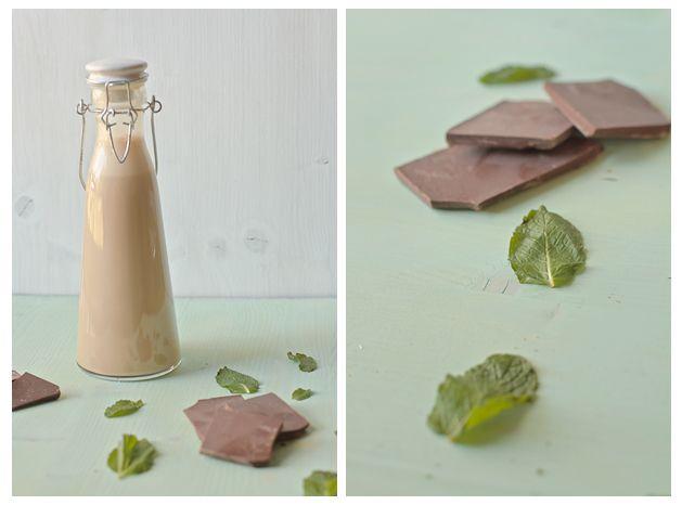homemade mint chocolate irish cream!