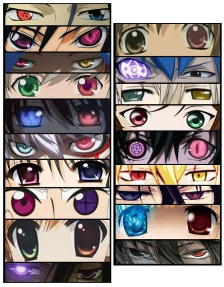 Anime Characters Eyes : How many characters can you name based on their eyes me