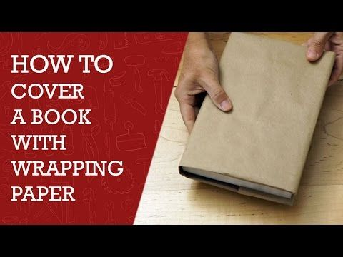 how to make a cover for text book wrapping paper diy channel youtube