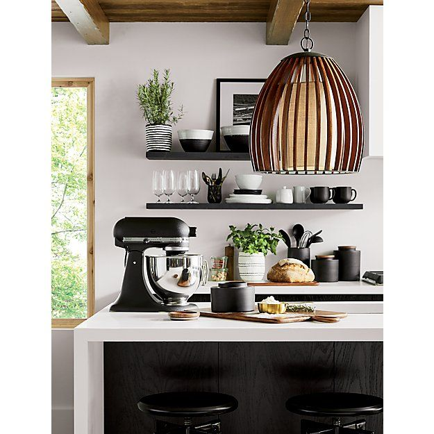 Clark Matte Black Canisters Crate And Barrel Black Kitchens Matte Black Kitchen Home Decor