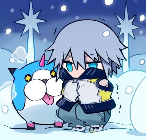 Kingdom Hearts Dream Drop Distance Riku and Meow Wow  Credits to the artist