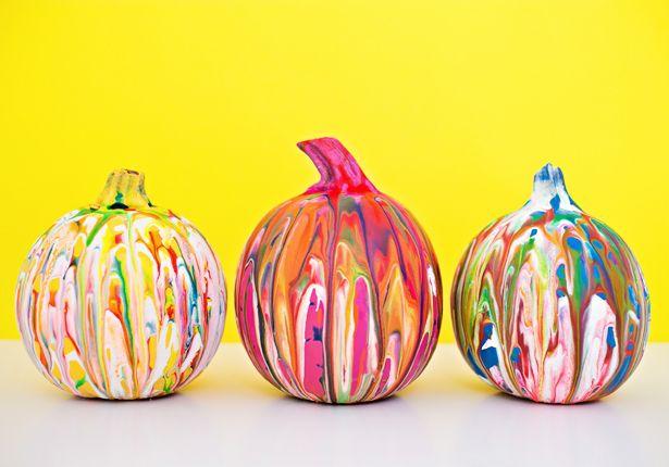 hello, Wonderful - SQUEEZE PAINT PUMPKIN ART: EASY NO CARVE PUMPKIN IDEA FOR KIDS