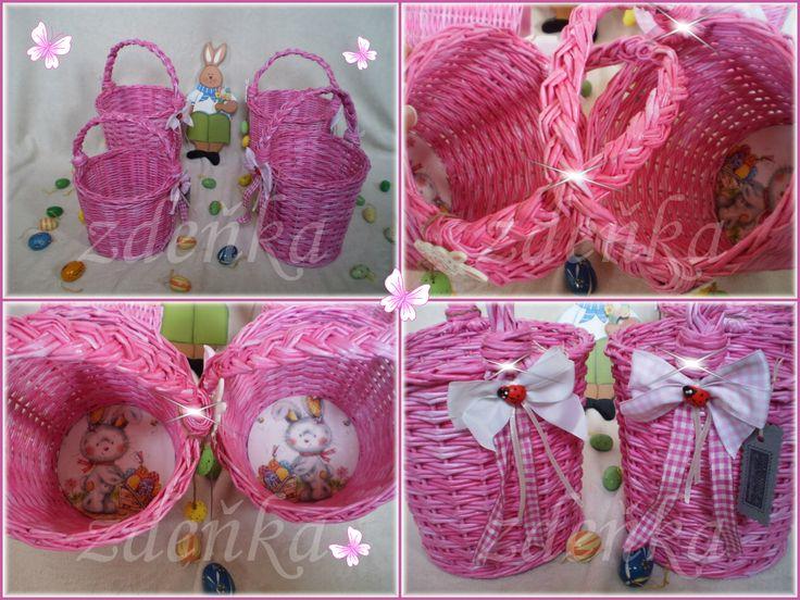 ✽ velikonoční košíčky růžové ✽