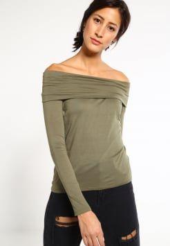 Vero Moda - VMOFFSHOULDER - T-shirt à manches longues - deep lichen green