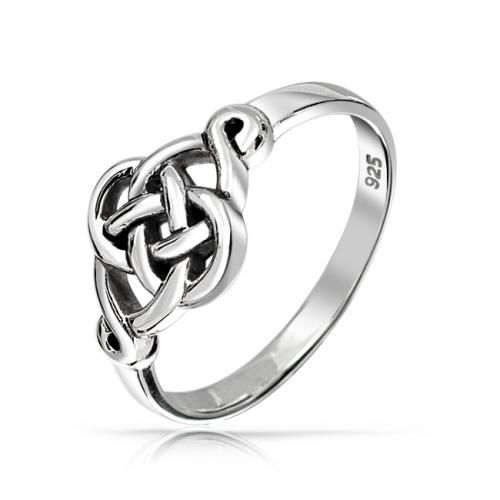 Irish Celtic Love Knot Ring Sterling Silver