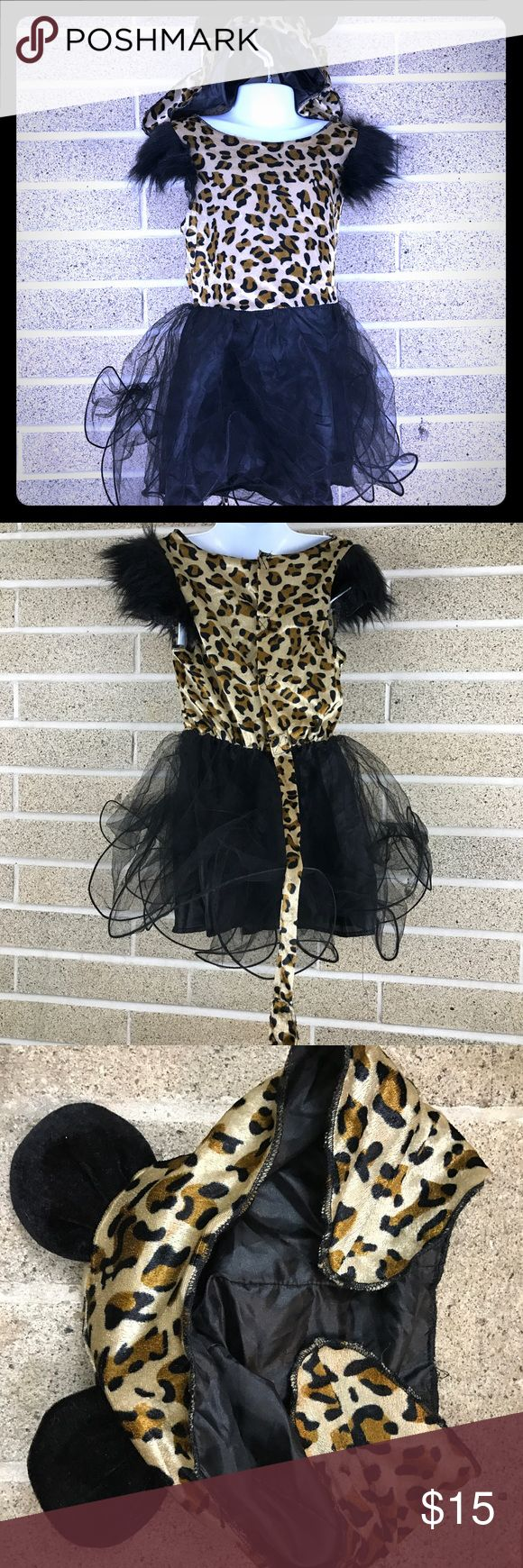 Kids leopard cheetah costume Super cute play dress up costume. No size tag but it looks like a 5 or 6. Comes with hat with ears. Costumes