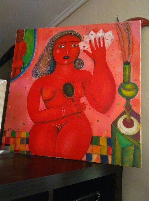 Κόκκινη γυναίκα από την προσωπική μου συλλογή  .