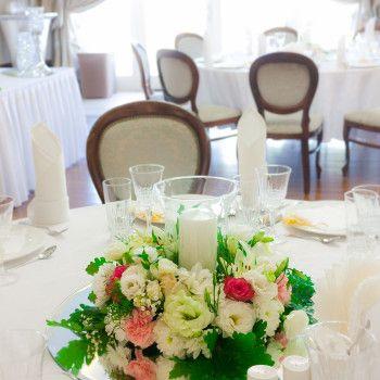 dekoracja ślub wesele zatopek świece wianek