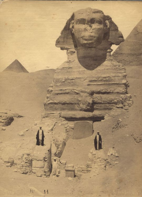 The Great Sphinx, Egypt, date unknown.