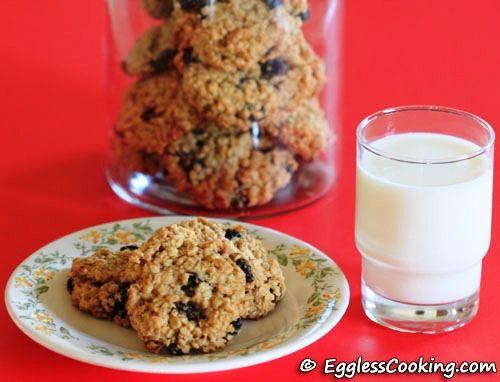 Vegan Oatmeal Cranberry Cookies | Things to bake | Pinterest
