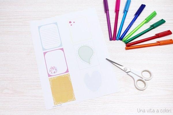 Note card stampabili fogli per appunti o note