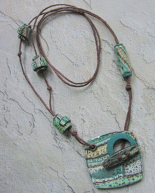 Polymer Clay Pendant   Studio53South.com