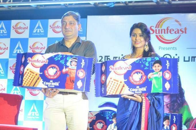 Sneha Prasanna spotted at Sunfeast Biscuits launch