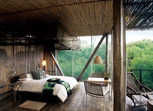 Το «Lecombo Singita Lodge» στο Kruger Park, απόλυτα εναρμονισμένο με τη φύση.