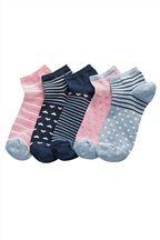Nautical Trainer Socks Five Pack