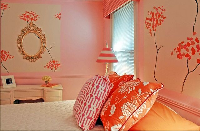 17 Best images about orange and pink rooms on Pinterest ...