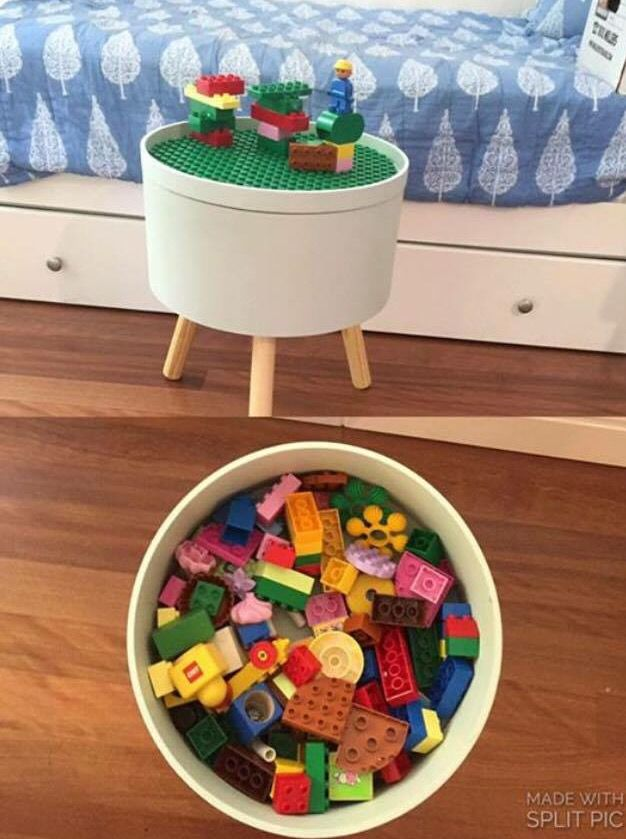 Table from Kmart to make a Lego table
