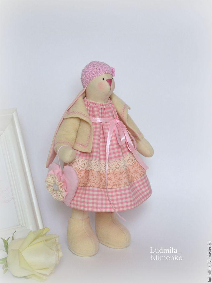 Купить Зайка Мari - розовый, зая, заяц тильда, заяц игрушка, заяц текстильный, зайка