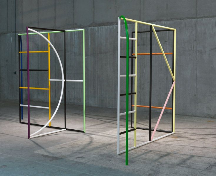 Eva Berendes | UNTITLED (MONDAY & TUESDAY), 2013 steel, lacquer 220 x 250 x 150 cm each