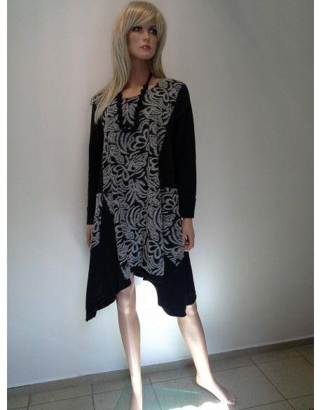 SUKIENKO - TUNIKA  245,00 zł brutto  kolor czarno szary  rozmiar XL