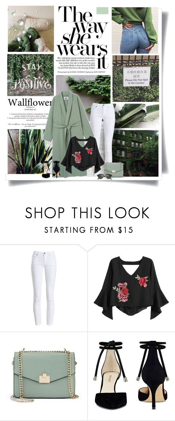 """""""Green is the prime color of the world"""" by kikusek ❤ liked on Polyvore featuring Barbour, Jennifer Lopez, Nine West and Ray-Ban"""