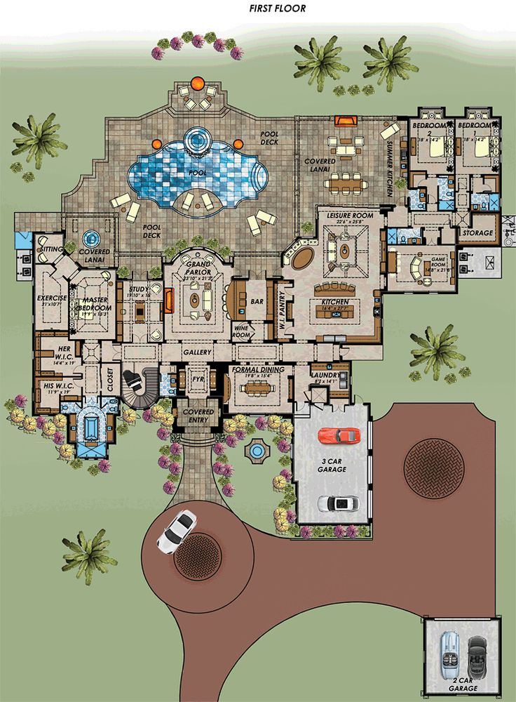 The 25 best mediterranean houses ideas on pinterest for Florida mediterranean house plans