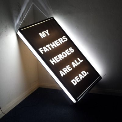 »follow suit (my fathers heroes are all dead)« by richard hughes (+)