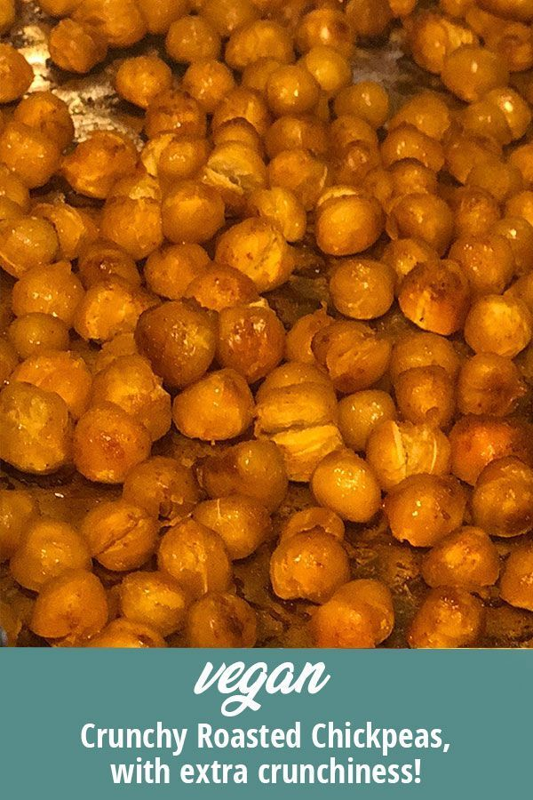 Vegan crunchy roasted chickpeas. Grab on the go or add to salads, baked potatoes…