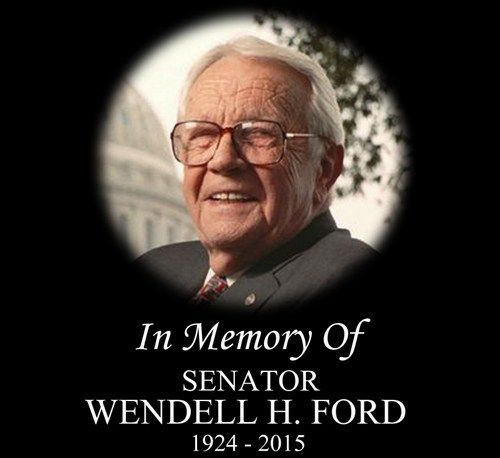 Wendell Ford was laid to rest in Owensboro today (1-27-15). He died January 22 after a battle with lung cancer. He was 90-years-old.  Ford served Kentucky as State Representative and Lt. Governor before becoming Governor. He never had any desire to be anything but Governor, but state law at the time would not allow him to run for a second term. That led to a four term career in the U.S. Senate.  - Tri-State News, Weather & Sports