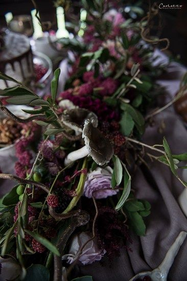 Herbst, violett, pruple decoration, fall, floral deoration, fall decor, , floral garland, flowers