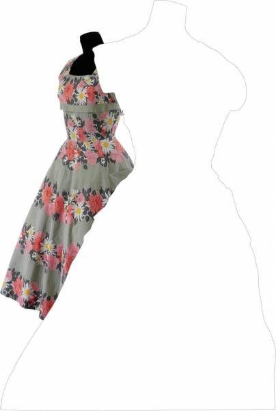 robe va Patron gratuit : robe couture 50s