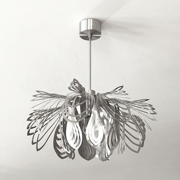 LAMPA nowoczesna niezwykly design STEEL PETALS - Archerlamps - Lampy wiszące
