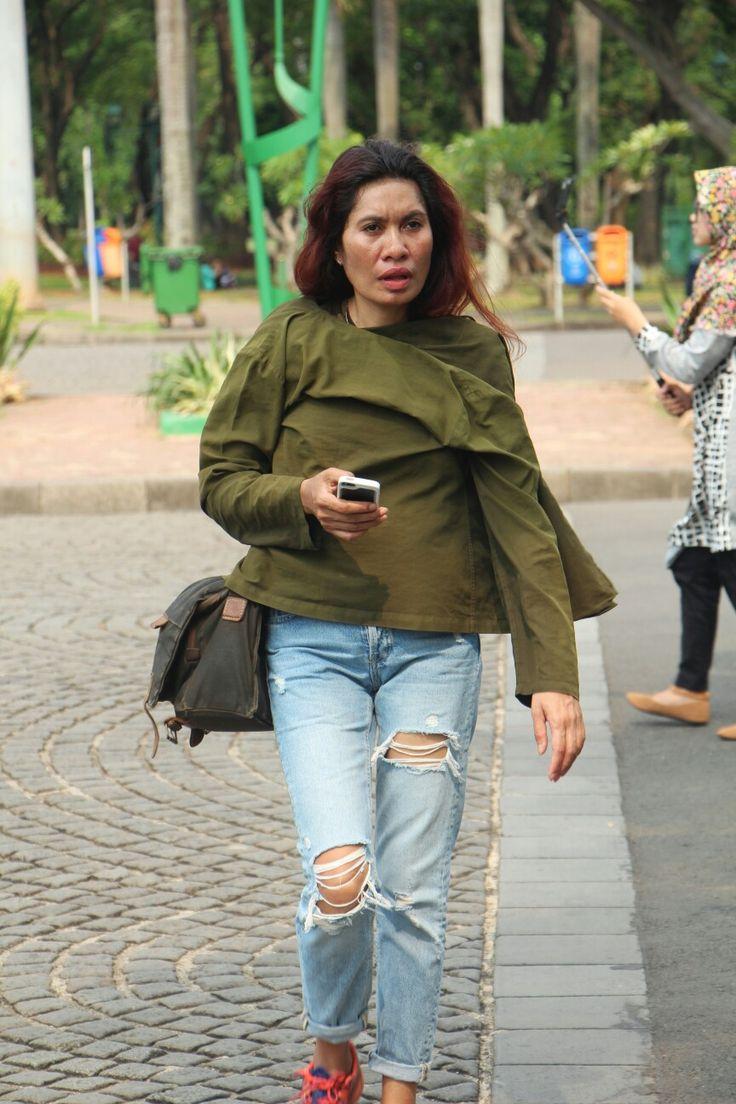 Denim jeans, army style @monas