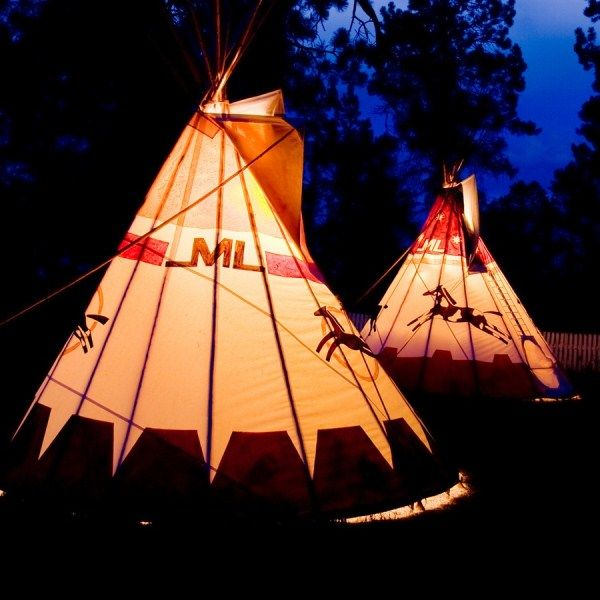 Tipi @ Majestic Dude Ranch Colorado, USA--Kids can spend the night in real Indian Teepees!
