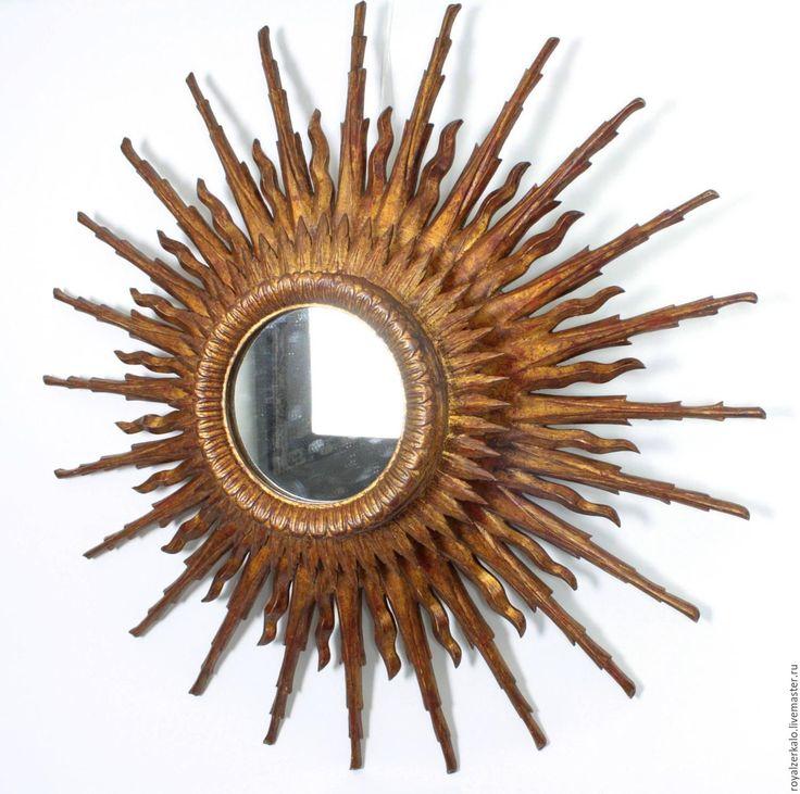 Купить Зеркало солнце Бетельгейзе - большое зеркало, зеркало солнце, резное зеркало