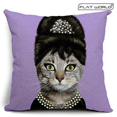 Flatworld? Decorative Elegant Creative Star Throw Pillow Case Cushion Cover Linen Cotton Natural ...