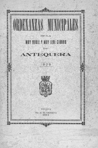 Ordenazas Municipales de la Muy Noble y Muy Lea... (1909)