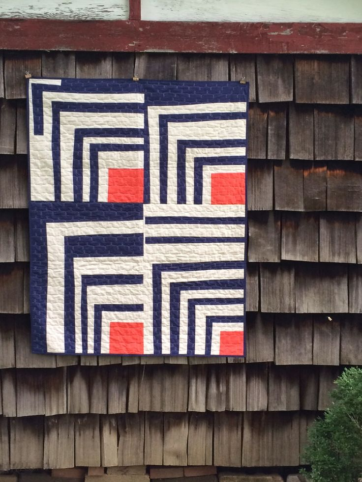 Delightfully off-balance and beautifully colored quilt by Heather Jones of olive & ollie.