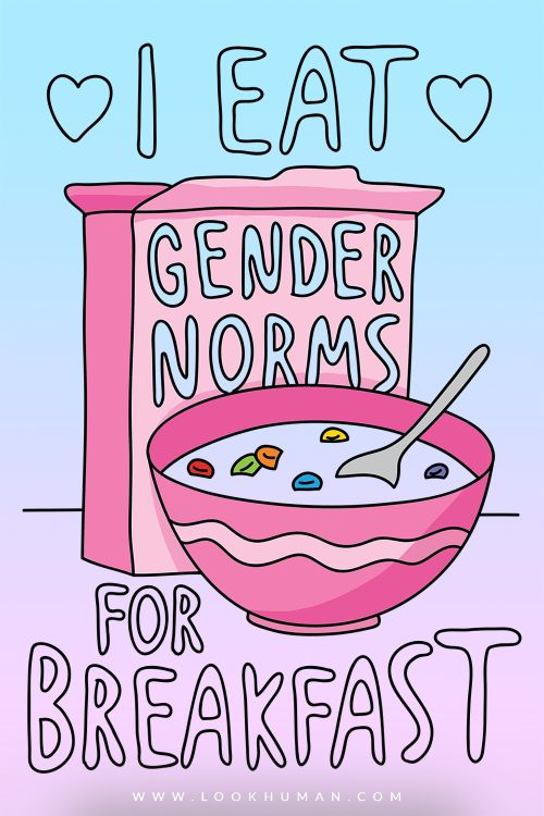 lookhuman: Show off your hatred of society's gender norms with this anti-gender roles, feminist inspired, trans pride, LGBT shirt! Be proud of who you are and forget traditional gender norms!