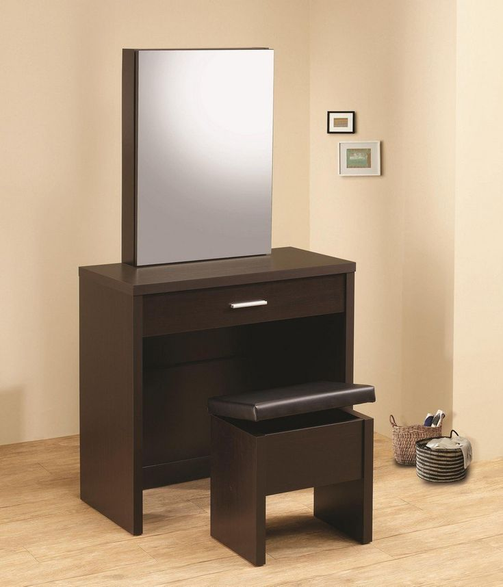 DealBeds.com - Coaster Home Furnishings Contemporary Vanity in Cappuccino, $189.00 (https://www.dealbeds.com/coaster-home-furnishings-contemporary-vanity-in-cappuccino/)