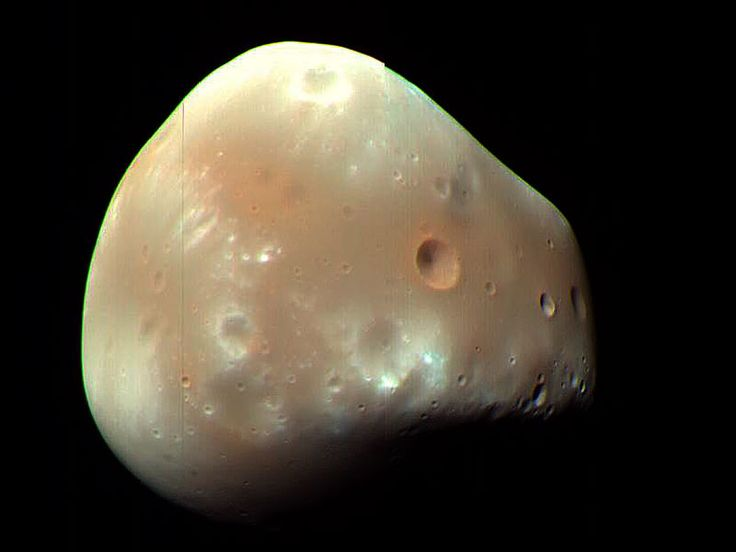 Martian Moon Deimos from MRO   Credit: HiRISE, MRO, LPL (U. Arizona), NASA