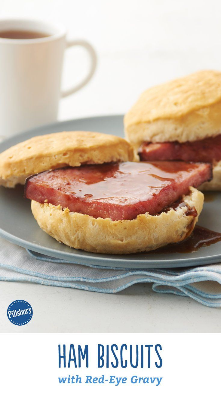 These traditional biscuits with red-eye gravy are deliciously bittersweet with the unexpected pairing of coffee and ham. Trust us. Expert tip: Leftover holiday ham is perfect in these breakfast biscuits.