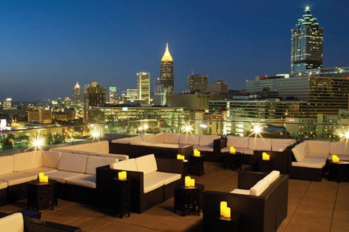 This looks like it would be a neat place to take in the city - Glenn Hotel sky lounge