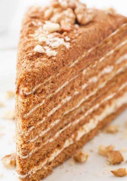 Medovik - Russian Honey Cake