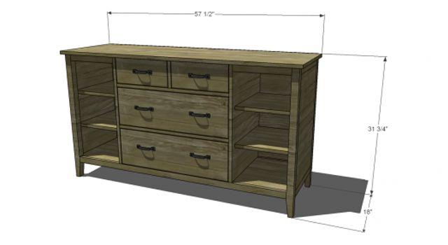 1000 Ideas About Dresser Plans On Pinterest Diy Table