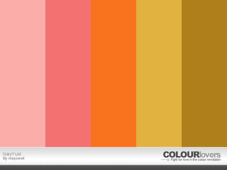 Paleta de color elegida por la pareja.
