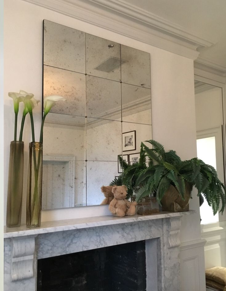 Antique Tiled Panel Mirrors Distressed Antique Effect Mirrors Commissioned To Clients Choose Style And Size Complemen Kitchen Mirror Tile Panels Antique Tiles